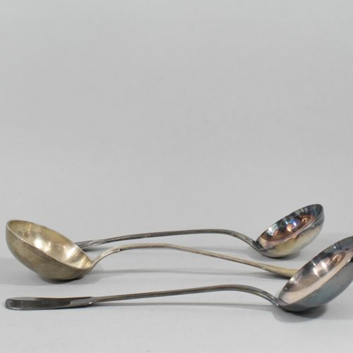 Silver ladle (Minerva) model with net.  Goldsmith's mark: GD.  Weight : 240 g.  …