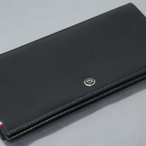 S.T.DUPONT  黑色真皮钱包。  状况非常好。  尺寸:18 x 9厘米。