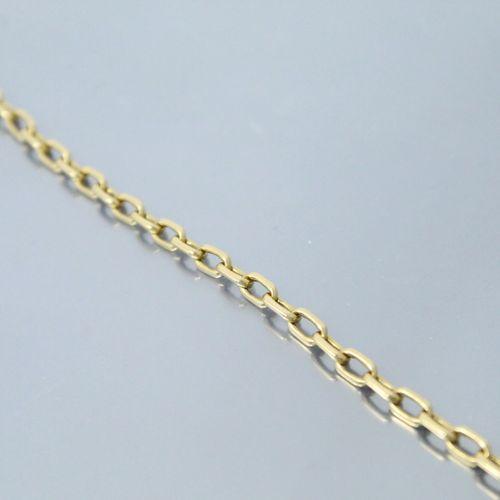 Bracelet en or jaune 18k (750) à maille forçat.  Tour de poignet : 20.5 cm. Poid…