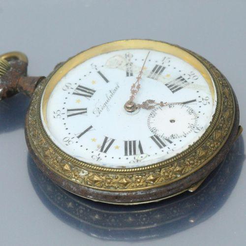 Régulateur de gousset en métal, cadran à chiffres romains pour les heures et ara…