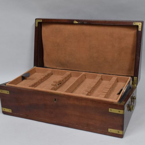 Wooden box suitable as a case for a housewife.