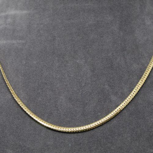 Demi parure composée d'un collier et d'un bracelet en or jaune 18k (750) à maill…