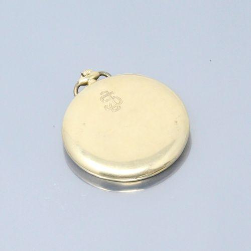 ULYSSE NARDIN LOCLE & GENEVE  Montre de gousset en or jaune 18k (750), cadran à …