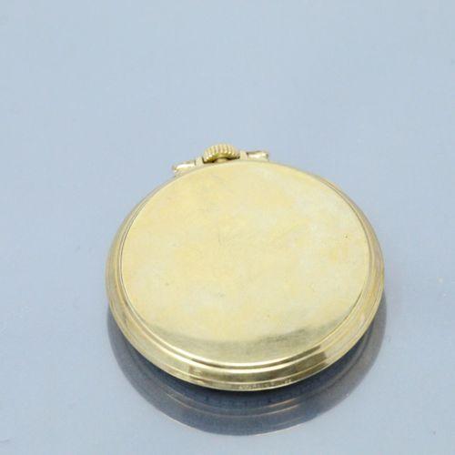 ELGIN  Montre de gousset en métal doré, cadran à fond doré, chiffres arabes pour…