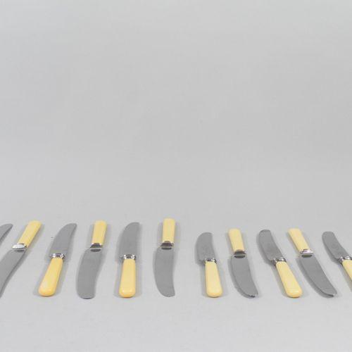 WARDONIA Thomas Ward & Sons Sheffield  Set of twelve table knives and twelve che…