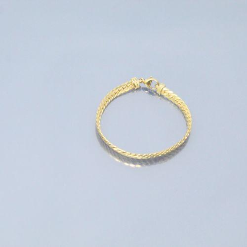 Bracelet en or jaune 18k (750) à maille anglaise.  Tour de poignet : env. 18 cm …