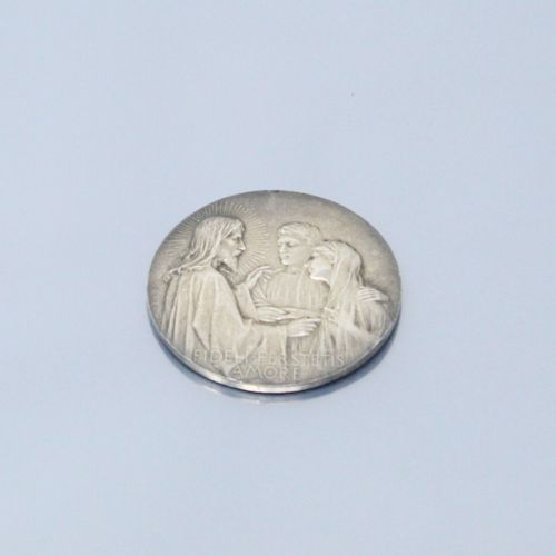 Médaille en argent d'ap. Vernon. FIDELI.PERSTETIS/AMORE. Sbg F. Vernon.  Diam. :…