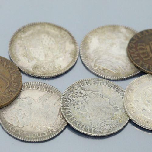Lot composé de :   Trois Jetons en argent Louis XVI Etats de Bretagne (1780, 178…