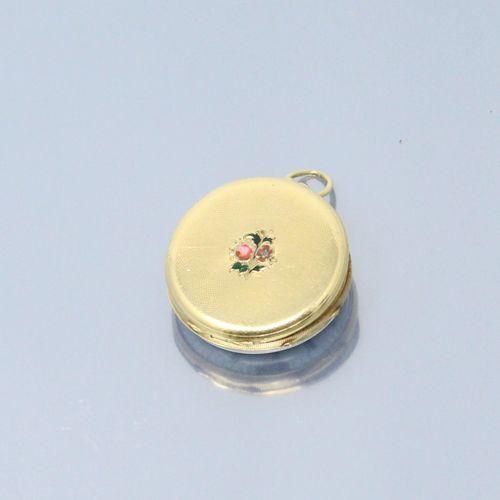 Débris de montre de gousset en or jaune 18K (750). Cadran à fond blanc, chiffres…