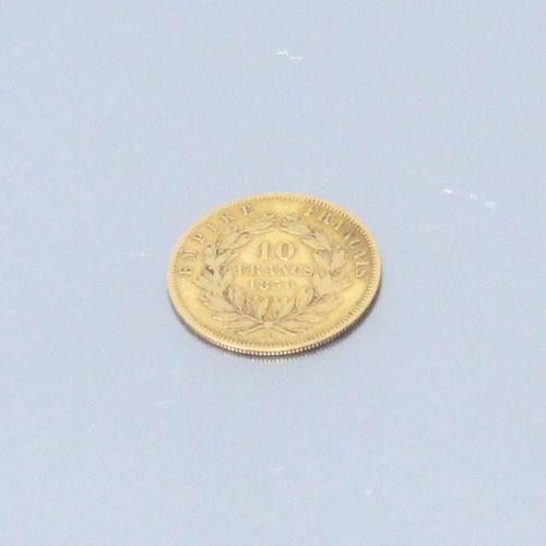 Pièce de 10 francs Napoléon III tête nue (1856 A)  TB à TTB  Poids : 3.2 g.