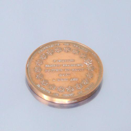 Médaille de table en bronze.  Avers : université de France / donation Ernest Bea…