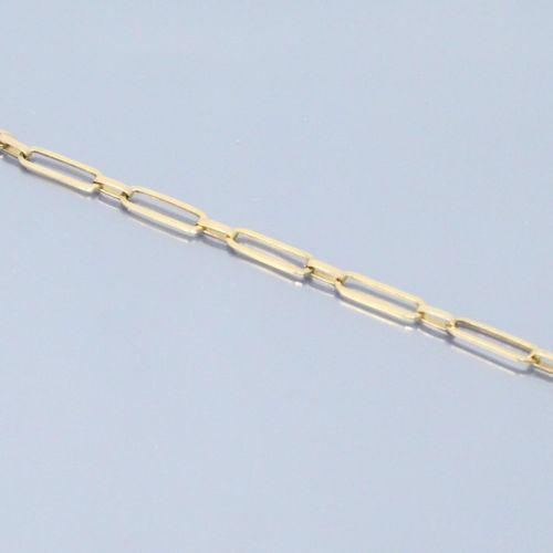 Bracelet en or jaune 18k (750)  Poinçon tête d'aigle.  Tour de poignet : 18 cm. …