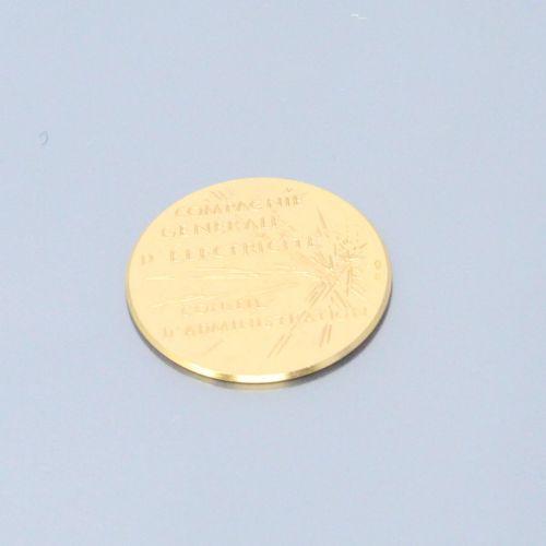 Compagnie générale d'électricité, médaille en or 24k (hippocampe) d'ap. CORBIN R…