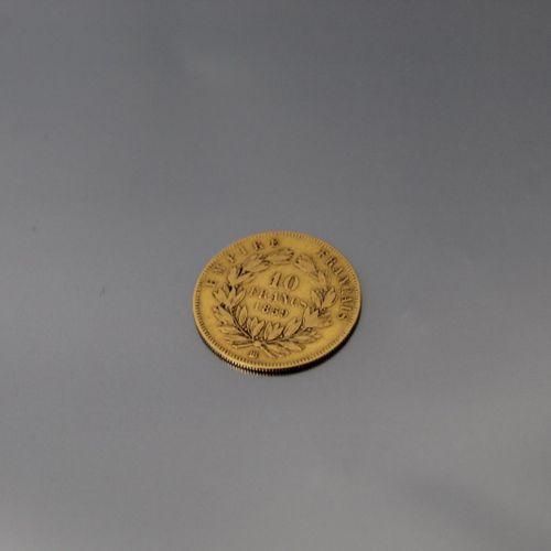 Pièce en or de 10 francs Napoléon III tête nue (1859 BB).  TB à TTB.  Poids : 3.…
