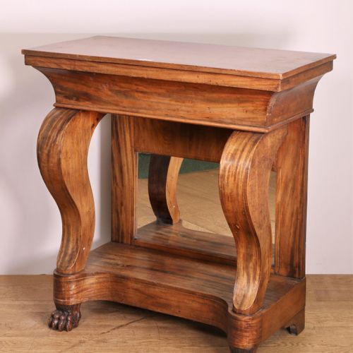 Mahoniehouten trumeau, Empire, with mirror back, drawer and carved claw feet w. …