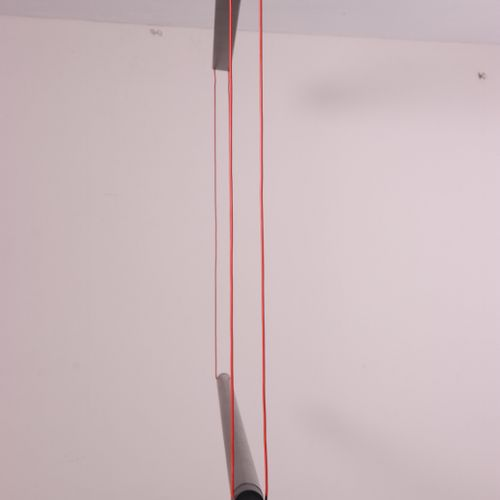 Bruno Ninaber van Eyben, zwart aluminium en kunststoffen 'Seventy Seven' TL lamp…