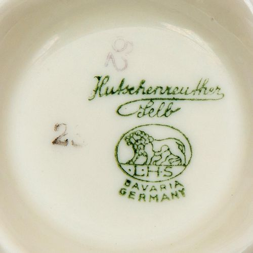 Hutschenreuther, porseleinen tienpersoons dinerservies with gilded rims, consist…