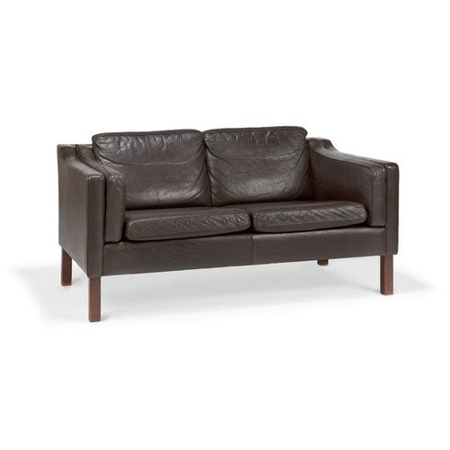 BØRGE MOGENSEN (1914 1972) & FREDERICIA (PUBLISHER) Two seater sofa, high teak s…