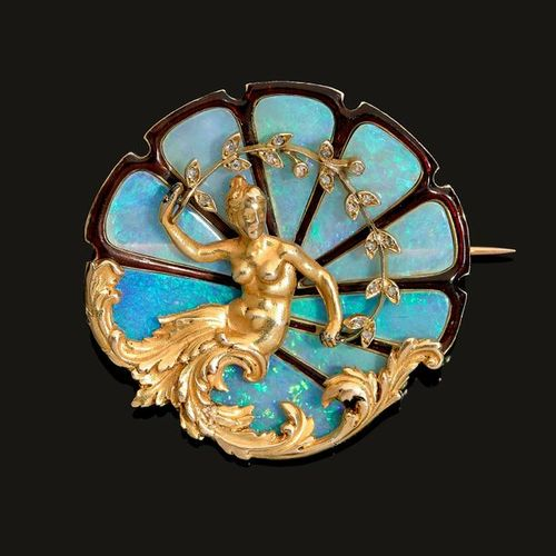 GEORGES FOUQUET VENUS BIRTH SPINDLE It is round in shape with Venus emerging fro…