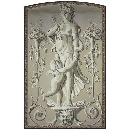 20世纪法国学校的皮亚特 索维格的味道  一套18件木雕作品,描绘了春天和秋天的寓言故事,周围有普蒂、巴奇克儿童和花瓶。  (一个损坏,一个恢复)  法国学校在…