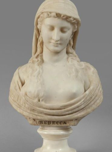 OGGETTISTICA Rebecca bust in statuary marble sec.XIXh .Cm.62