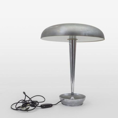 STILNOVO STILNOVO Une lampe de table '4639' vers 1965. Verre opalin satiné en la…