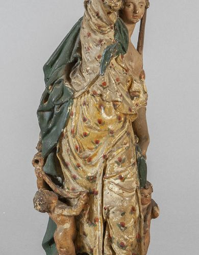 OGGETTISTICA Allegory of spring polychrome terracotta sculpture XVIIIth century …
