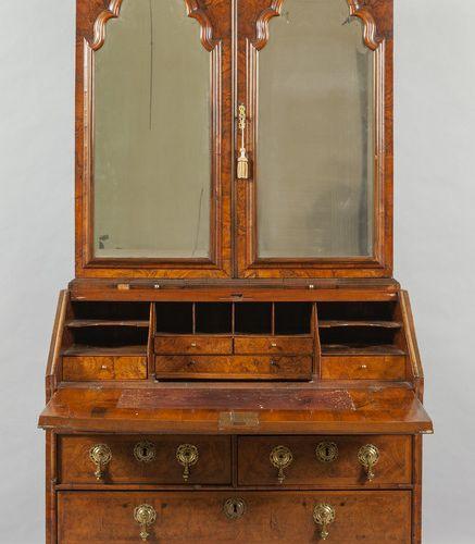 MOBILE Trumeau lastronato in radica parte superiore con sportelli a vetrina Ingh…