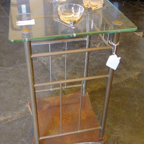 OGGETTISTICA Table basse déco en laiton et cristal