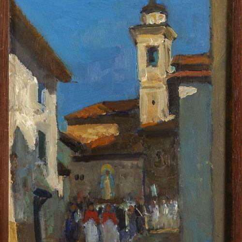 CARDILLO GIUSEPPE CARDILLO GIUSEPPE (1927 2007) La procession à Cassano Spinola …