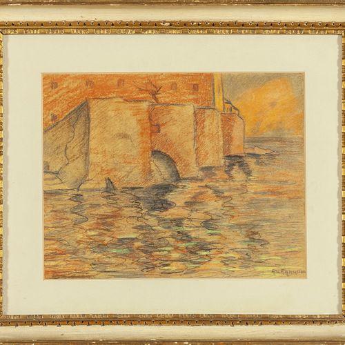 GARGANI ALFREDO UBALDO ALFREDO UBALDO GARGANI (1898 1947) Boccadasse pastel sur …
