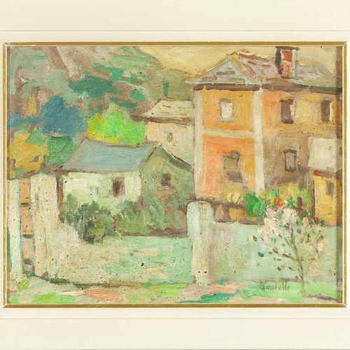 GARDELLA RICCARDO GARDELLA RICCARDO (1909 1986) Borgoratti huile sur panneau cm.…