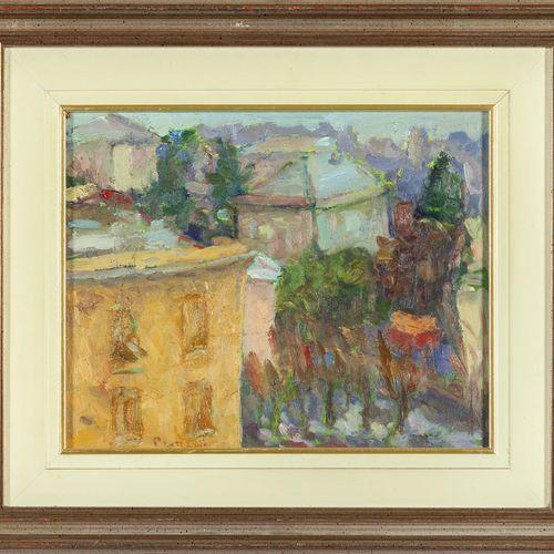 PRONZATO GIOVANNI GIOVANNI PRONZATO (1934 ) Toits de Gênes huile sur panneau cm.…