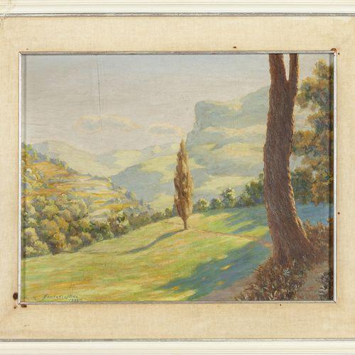 SANTAGIUSTINA UMBERTO SANTAGIUSTINA UMBERTO (1900 ) 30 Paysage huile sur panneau…