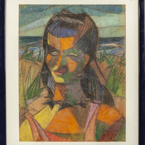 CUNIOLO ARMANDO ARMANDO CUNIOLO (1900 1955) Portrait féminin cubiste pastel sur …