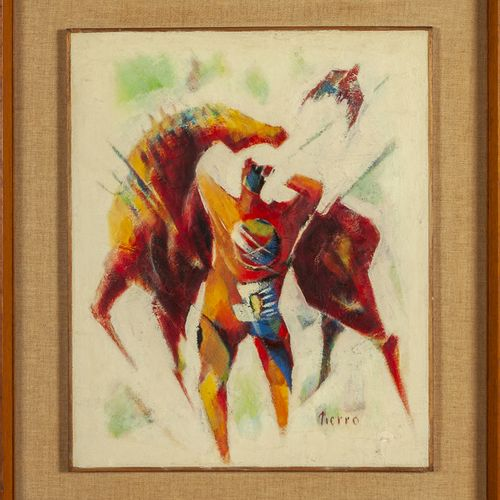 PIERRO LELIO PIERRO LELIO (1906 1969) 53 Abstrait huile sur carton cm.40x48 f.À …