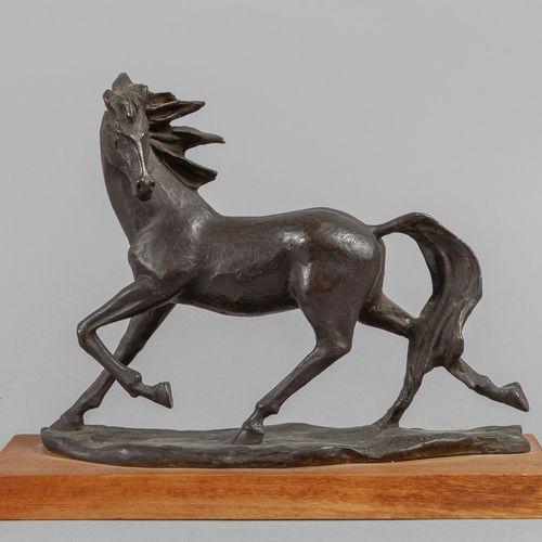 DIPINTO G.Verrone (1893 1983) Il Morello sculpture en bronze avec patine foncée …