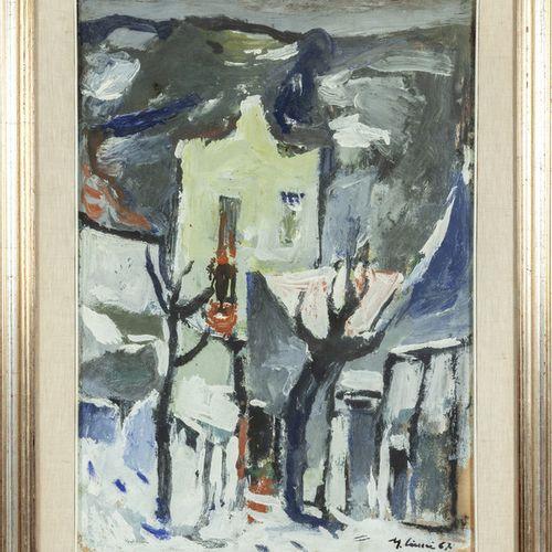 CIUCCI MARIO MARIO CIUCCI (1903 1968) 22 Nevicata huile sur panneau cm.50x70 f.À…