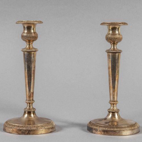 OGGETTISTICA Paire de chandeliers en argent h.Cm.23