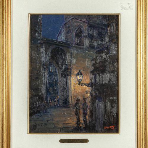 MORTEO ETTORE ETTORE MORTEO (1874 1939) Porta Soprana huile sur panneau cm.33x26…