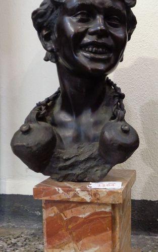 CINQUE VINCENZO VINCENZO CINQUE (1882 1964) Aquaiolo sculpture en bronze à patin…
