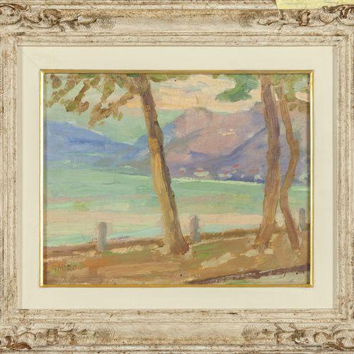 MORO GIUSEPPE MORO GIUSEPPE (1888 1956) Rapallo huile sur panneau cm.31x23 5 f.T…