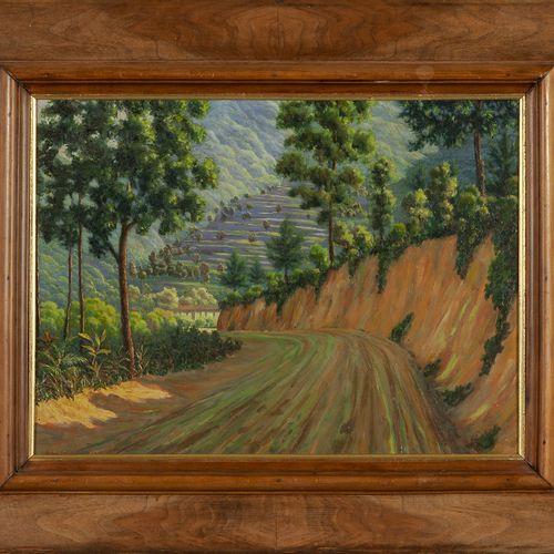 SANTAGIUSTINA UMBERTO SANTAGIUSTINA UMBERTO (1900 ) Strada di Cornia huile sur p…