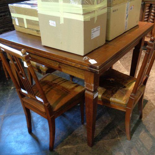 MOBILE Table avec plateau pliant cm. 100x100 h. 80