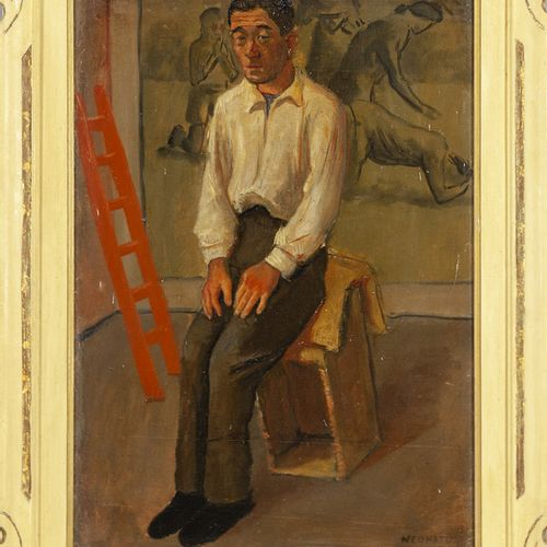 NEONATO NICOLA NEONATO NICOLA (1912 2006) Nello studio huile sur carton cm.46x66…