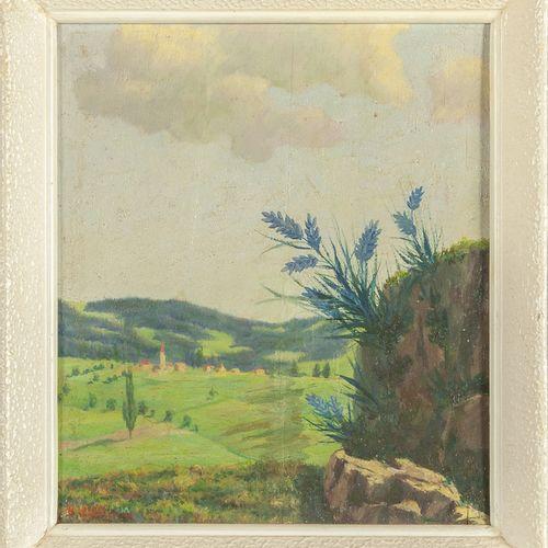 SANTAGIUSTINA UMBERTO SANTAGIUSTINA UMBERTO (1900 ) Paysages deux huiles sur car…