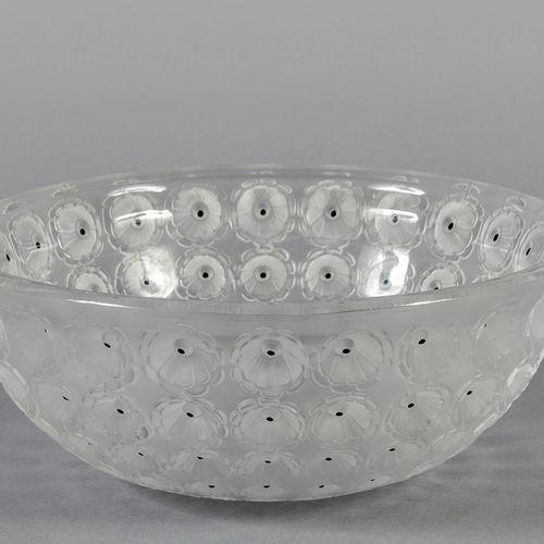 OGGETTISTICA Bol en cristal biseauté f.Ta Lalique France diam.Cm.25xh.10