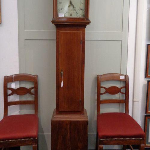 OROLOGIO Horloge tour en bois début XXème siècle. H.Cm.194