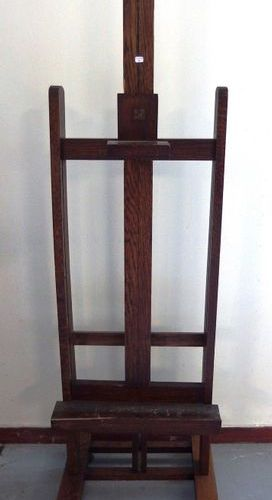 A small easel on wheels  Maximum shelf height: 95cm, L42cm  A small lack of wood