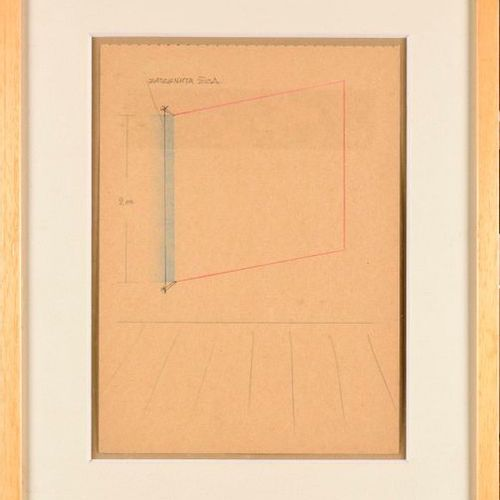 NESA PARIPOVIC (SRB/ BORN IN 1942) Untitled (Stretched thread wall drawing) insc…